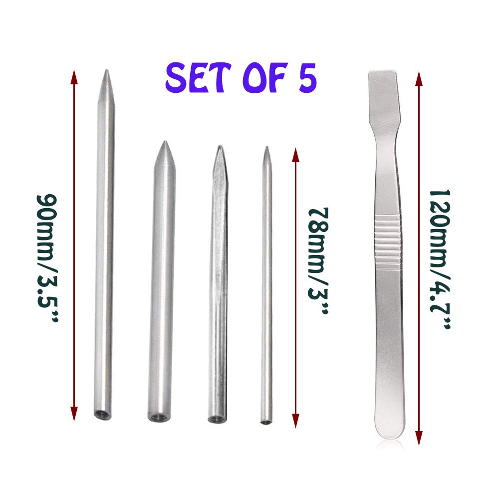 with Smoothing Tool 4 Pcs//4 Sizes Paracord FID Lacing Needles for Laces and Strings Stainless Steel Silver TuNan Stitching Leather Weaving /& Bracelet Needle