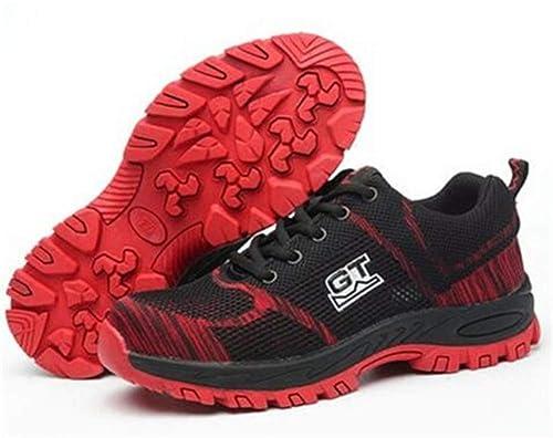 Aizeroth-UK Unisex Hombre Mujer Zapatillas de Seguridad con Punta de Acero Antideslizante S3 Zapatos de Trabajo Comodas Calzado de Trabajo Deportivos ...