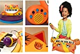 B.Toys - MEOWSIC KEYBOARD - 5 Instruments & 5 Mythm Sounds, 20 Familiar Songs, Control Volume, Beat & Tempo, Retractable Sing-Along Mic, Lyrics Included