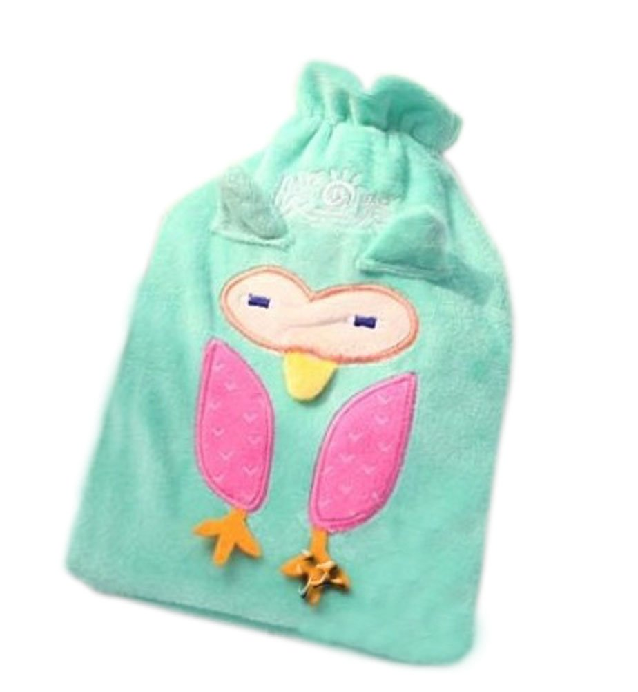Hot Sale 3D Animals Shape Hot Water Bottle With Cover-Sky Blue Owl (23x16CM)