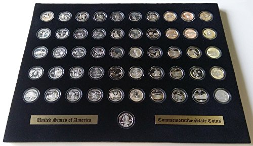 Tiny Treasures, LLC. Black Display Insert for the 50 State Quarters (Not Included)