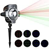 Outdoor LED Christmas Projector Lights OKPOW Waterproof Colorful Snow Landscape Spotlights with Controller for Xmas Holiday Halloween Wedding Party Outdoor Garden Decoration Light