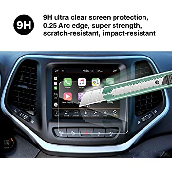 YEE PIN 2014-2019 Jeep Grand Cherokee Uconnect 8 4 Inch Screen  Protector,Automatic Adsorption Scratch Resistance Reduce The Fingerprint  Tempered Glass
