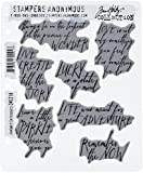 """Stampers Anonymous Tim Holtz Cling Rubber Handwritten Thoughts Stamp Set, 7"""" x 8.5"""""""