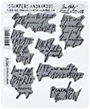 Stampers Anonymous Tim Holtz Cling Rubber Handwritten Thoughts Stamp Set, 7'' x 8.5''
