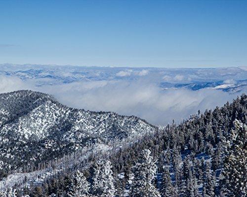 Winter Blue Smoke, Heavenly Ski Resort, South Lake Tahoe, Nevada - Matted Photo Art Print, 11