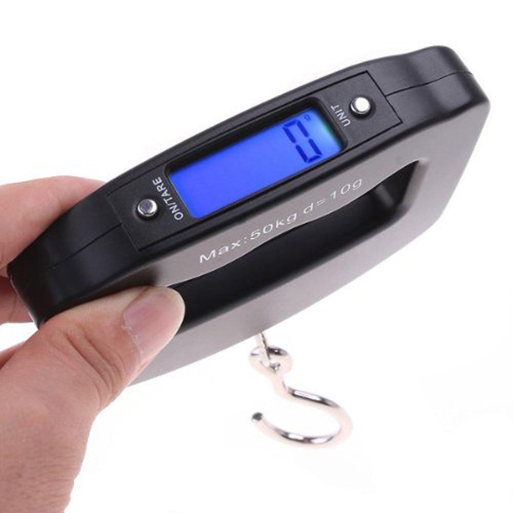 Saitec /® HK 50Kg//10g LCD Digital Hanging Luggage Weight Hook Scale
