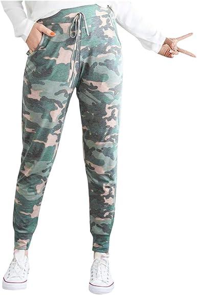 PAOLIAN_Pantalones Para Mujer Pantalones para Mujer Camuflaje ...