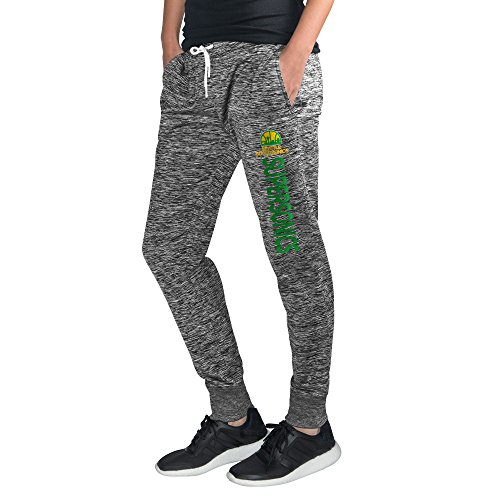 GIII For Her NBA Seattle Supersonics Women's Sideline Skinny Pants, Medium, Heather Grey