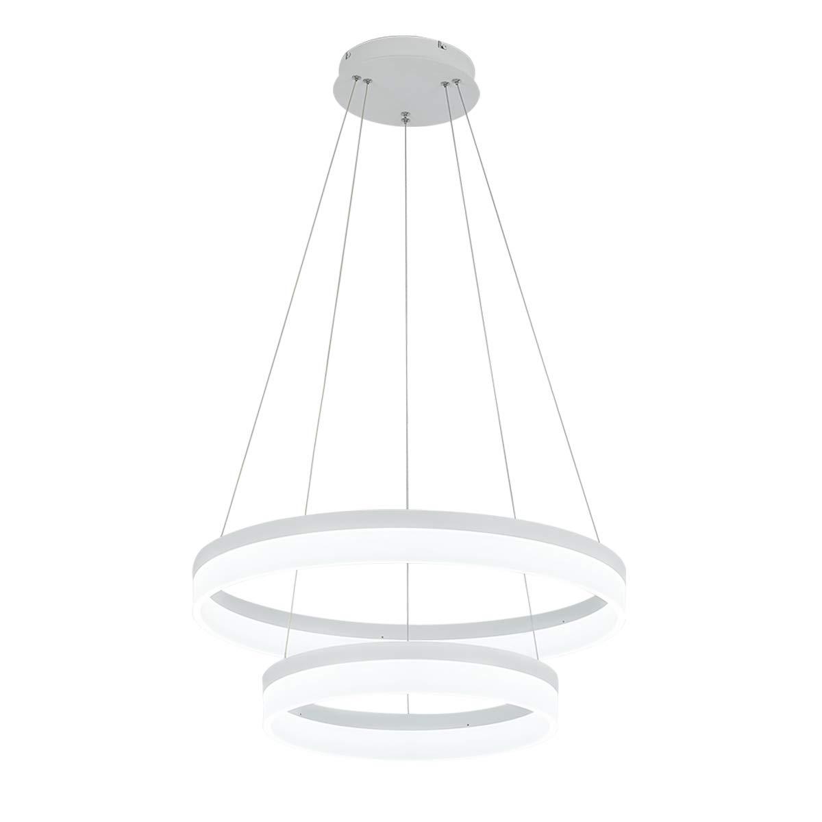 ROYAL PEARL LED Pendant Light Modern Chandelier 5400lm 60W Flush Mount Pendant Lamp for Living Room Bedroom Office, 6000k