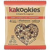 Kakookies Energy Cookies - Dark Chocolate Cranberry (Box of 1 Dozen Cookies) - Vegan, Gluten-Free, Soft-Baked Superfood Snack Cookies