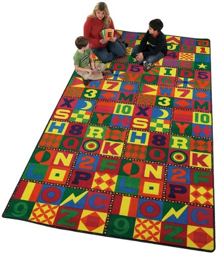 Educational Floors That Teach Kids Rug Rug Size: 6' x 12' by Flagship Carpets