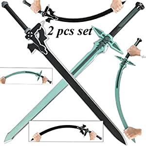 Sword Art Online Kirito Kirigaya Dark Repulsor Elucidator Foam LARP Sword Set