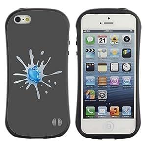 TopCaseStore Allround Rubber Case Hard Cover Protection Hybiid Defender Antishock for Apple iphone 4s - Apple Splash