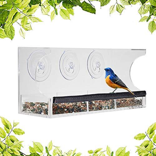 Garma Window Bird Feeder Outdoor Bird feeders for Wild Birds Window Bird House...