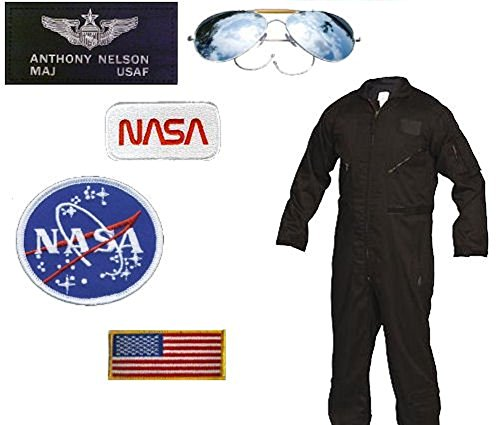 USAF-NASA Astronaut Costume - Major Nelson (Large, Black)