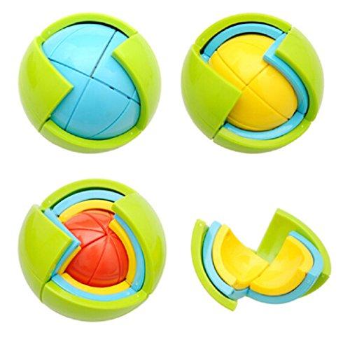 Behalili 3D Puzzle Ball, Three Jigsaw Building Block Kids Intellectual Challenge DIY Toy ...