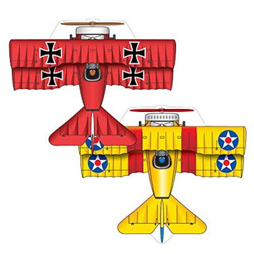 MicroKite 2 Pack, set of 2 Mini Mylar Kites, Red Baron and B