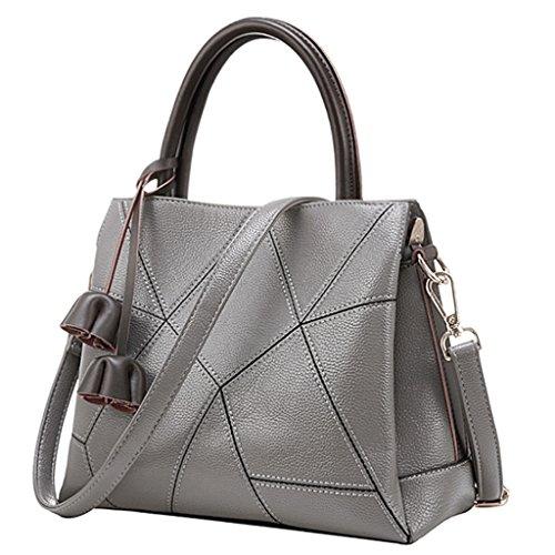 Handbag Femmes sac à main en peau de vache géométrique diagonale croix frange fleur décoratif sac à bandoulière A+ (Couleur : 1#)