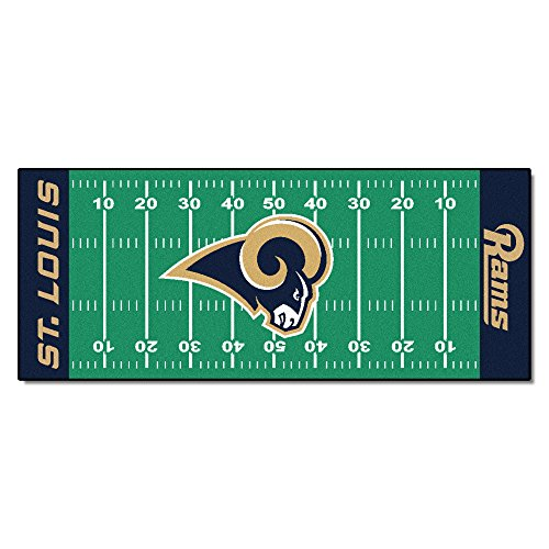 FANMATS NFL Los Angeles Rams Nylon Face Football Field Runner ()