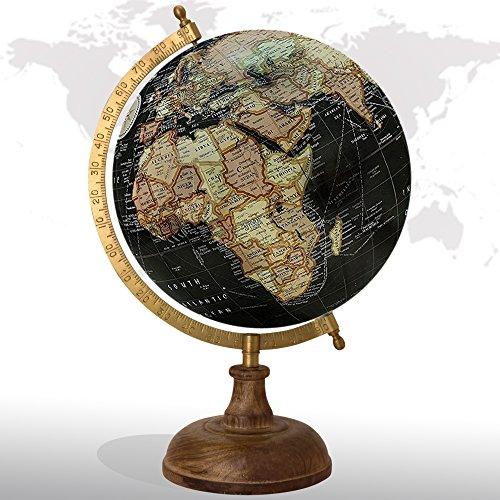 Decorative Rotating World Map Globe Black 8