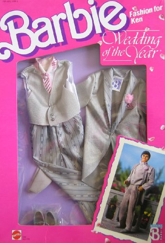 Barbie KEN Fashions WEDDING OF THE YEAR Groom TUXEDO Outfit & Accessories (1989 Mattel Hawthorne) by Barbie