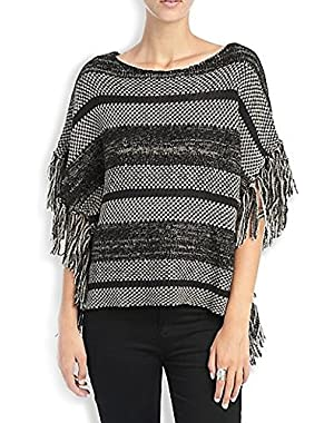 Apparel Women's Festival Fringe Pullover Black Multi