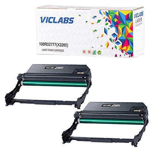 VicLabs Compatible Phaser 3260 Drum Unit, Replacement for Xerox 101R00474  Drum Works with WorkCentre 3215 Toner, Phaser 3260 Toner, fits for Xerox
