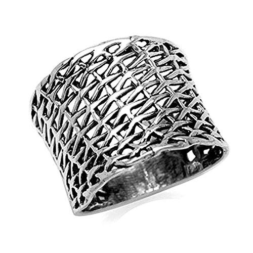 Large Weave Sterling Silver Filigree
