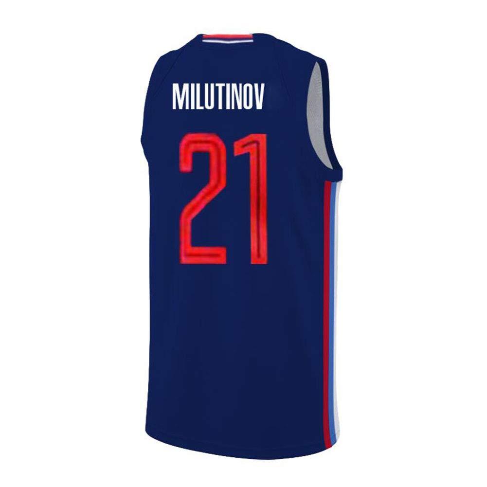 Nikola Milutinov # 21 Camiseta De Baloncesto para Hombre ...