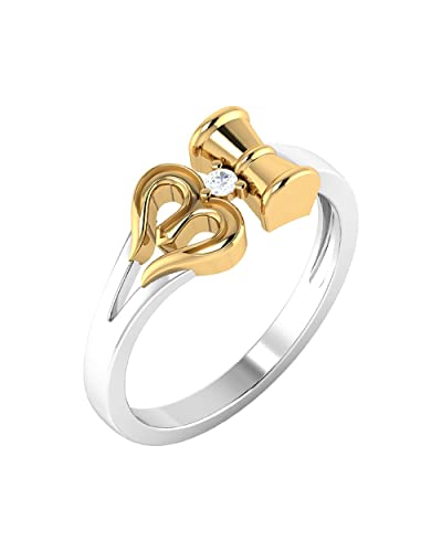 a7e9a8e43e288a Buy Dare by Voylla Dual Tone OM Designer Ring For Men Online at Low Prices  in India | Amazon Jewellery Store - Amazon.in