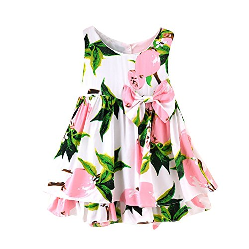 - Respctful ♫♫Baby Girls Summer Dress Boho Sunflower Print Outfits Ruffle Tutu Skirt Beach Sunsuit One Piece Sleeveless Clothes Pink