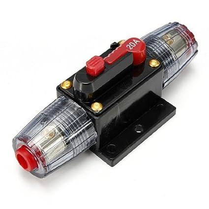 amazon com water wood 20a dc car audio inline circuit breaker rh amazon com