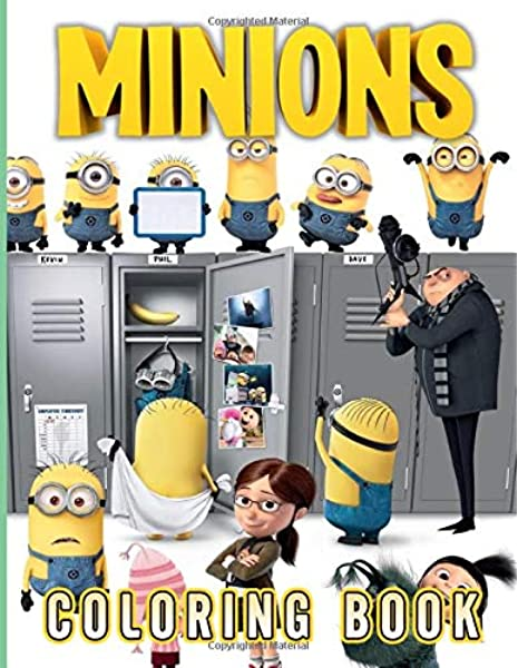 Minion Coloring Book: Unofficial Minion Coloring Books For Adults, Perfect  Gift Birthday Or Holidays: Holland, Ashton: 9798638301729: Amazon.com: Books
