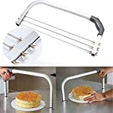 Xiaolanwelc@ 3 Blades Interlayer Wire Bread Cake Cutter Cake Slicers Bakeware Level Leveler Pastry Slices Cake Knife Kitchen Accessories Tool