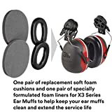 3M PELTOR X3 Ear Muffs Replacement Cushions and