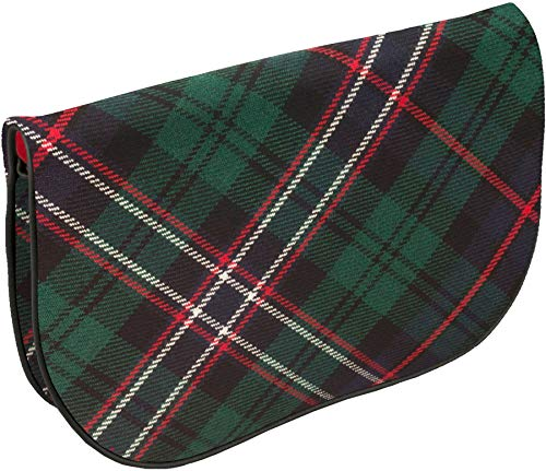 With Inside Pocket Tartan National Bag Large Scotland And Leather Back Clutch Hq1tO