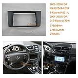 Autostereo Car Radio fascia Facia FOR MERCEDES-BENZ E-klasse W211 2002-2009 CLS-klasse Car Radio Stereo fascia MERCEDES-BENZ E-klasse W211 Stereo Fascia Dash CD Trim Installation Kit