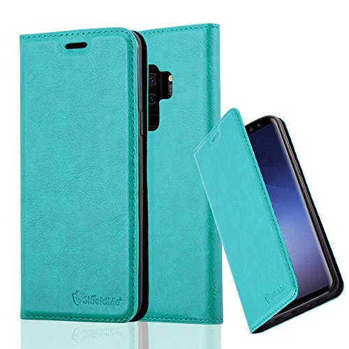 Samsung Galaxy S8+ Case, Certified Anti-Radiation EMF Protection Wallet TPU Leather Case, Blocks 99% of Harmful Cellphone and RF Radiation, for Men and Women, Teal by ShieldMe Case