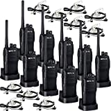Retevis RT21 Two Way Radio Rechargeable 2 Way Radios UHF FRS 16CH VOX Scrambler Emergency Security Long Range Walkie Talkies with Secret Service Earpiece (10 Pack)