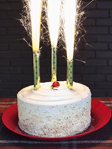 Big Birthday Cake Candles Amazoncouk Kitchen Home