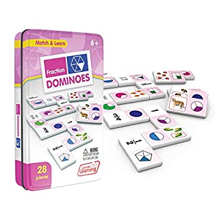 Junior Learning Fraction Dominoes Educational Action Games