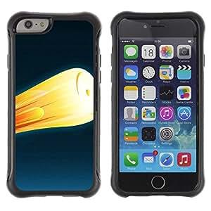 LASTONE PHONE CASE / Suave Silicona Caso Carcasa de Caucho Funda para Apple Iphone 6 PLUS 5.5 / Fire rocket 2