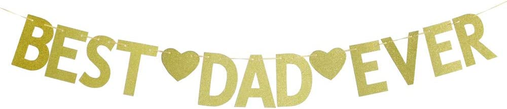Best Dad Ever Banner-happy Fathers' Day Banner Fathers Day Decor Dad Photo Prop for Party Holiday Decoration.