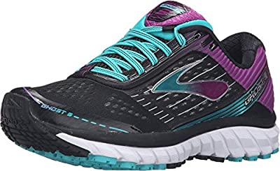 Brooks Women's Ghost 9 Black/Sparkling Grape/Ceramic Running shoes - 11.5 B(M) US