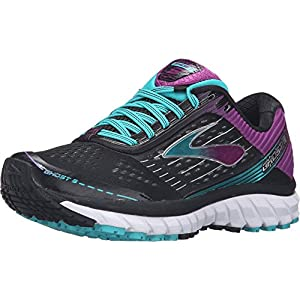 Brooks Women's Ghost 9 Black/Sparkling Grape/Ceramic Running shoes - 7 D - Wide