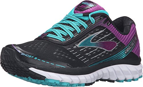 Brooks Women's Ghost 9 Black/Sparkling Grape/Ceramic Running shoes - 12 B(M) US
