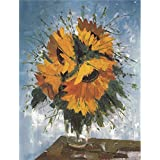 Canvas Prints Of Oil Painting ' Sunflowers ' , 10 x 13 inch / 25 x 33 cm , High Quality Polyster Canvas Is For Gifts And Bath Room, Dining Room And Study Room Decoration, wall print