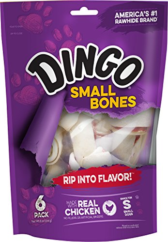 (Dingo MFR BACKORDER 012517 Bone Small White 6PACK Value Bag (9 oz))