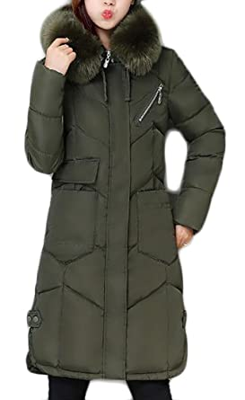 66a7344009a2 Image Unavailable. Image not available for. Color  FLCH+YIGE Women Coats  Quilted Down Puffer Jacket Parka Faux ...